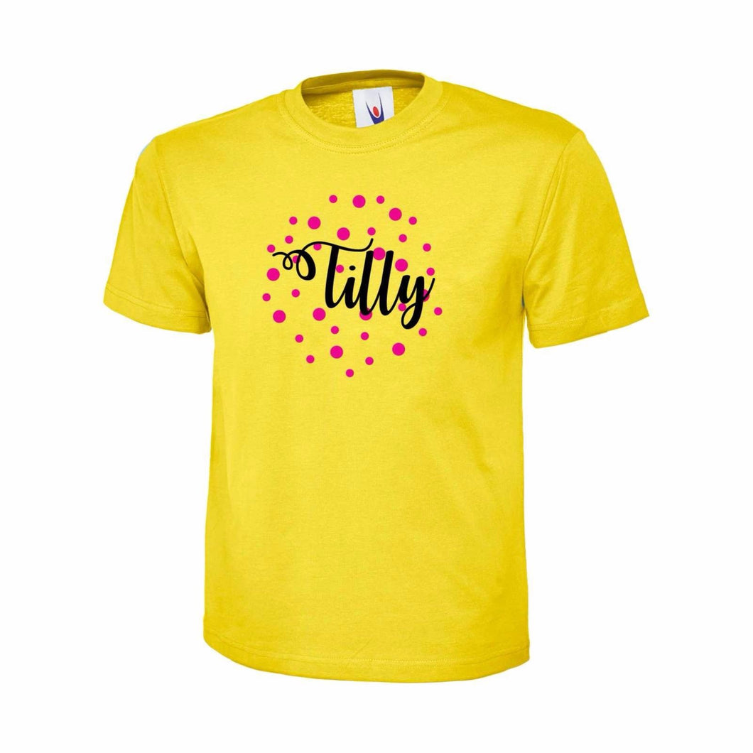 PERSONALISED GIRLS SPOTTED T-SHIRT