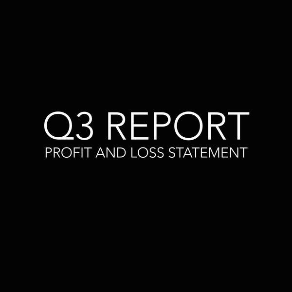 FORWARD SOLUTIONS INC. Q3 PROFIT & LOSS
