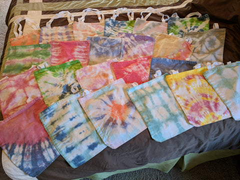 Tie Dyed Cotton Tote Bags