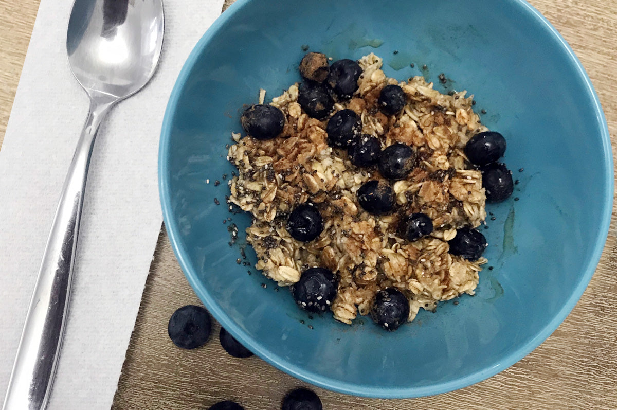 Blue Berry Chia Seed Oatmeal