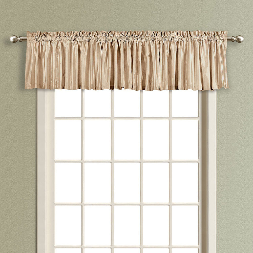 American Curtain and Home Kathryn Straight Window Treatment Valance, 54-Inch by 16-Inch, Taupe