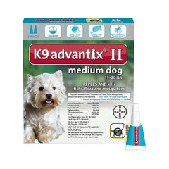 Bayer K9 Advantix II Flea & Tick Treatment for Medium Dogs 11-20 lbs 3PK (Used)