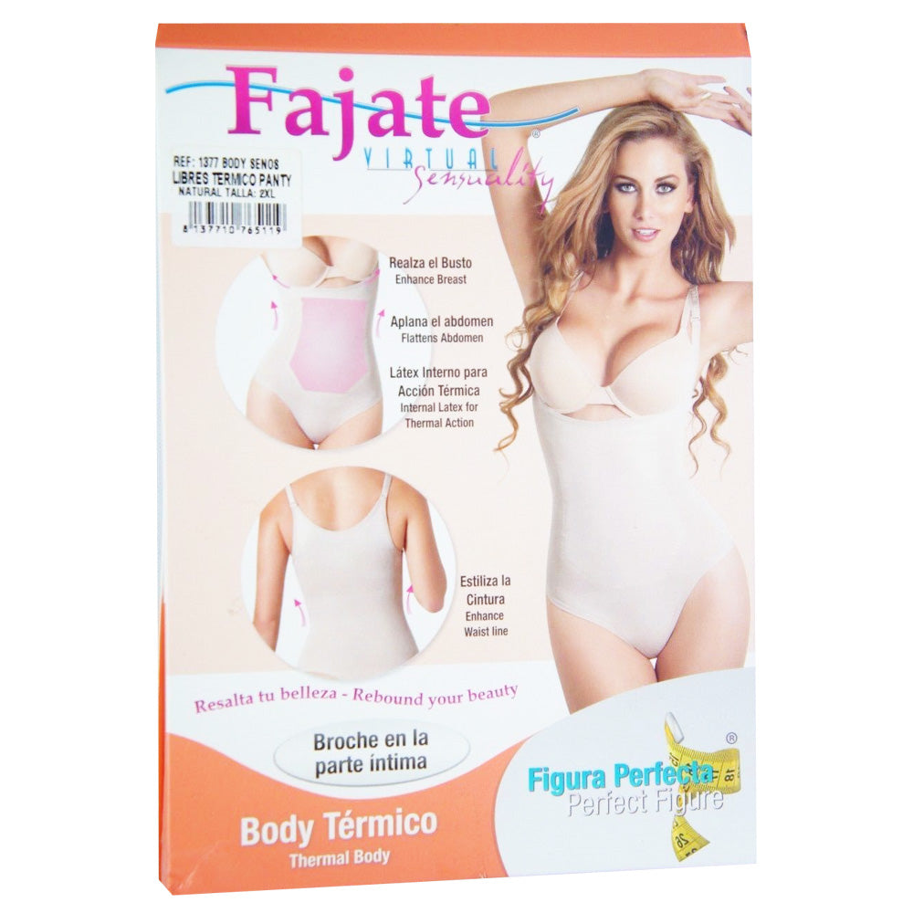 Fajate Fajas Colombianas Reductoras Post-Surgery Braless Thermal Body Shaper