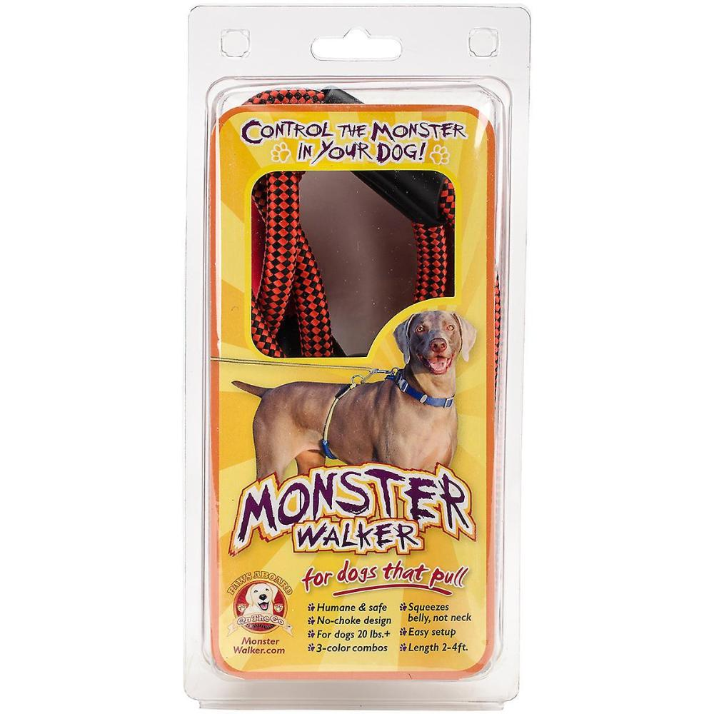 Monster Walker 20lbs+-Red/Black For Dogs That Pull