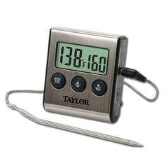 Taylor 1487 Digital Cooking/Roasting Thermometer With Stainless Steel Housing