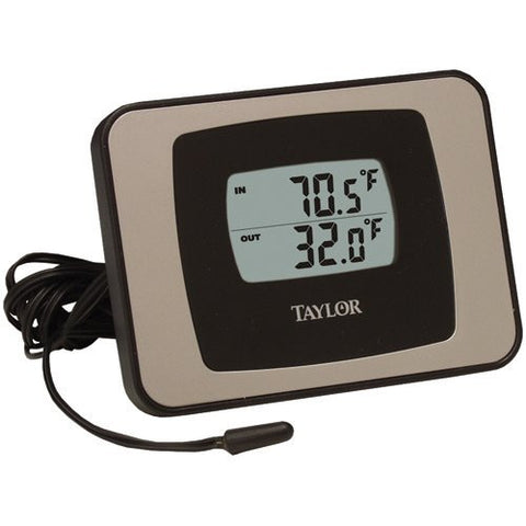 Taylor 1522 Indoor/Outdoor Thermometer Guide w/ Min/Max Temperature Recall