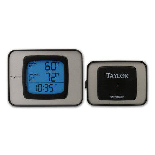Taylor 1525 Weather Guide Wireless Remote Sensor Indoor/Outdoor Thermometer