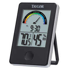 Taylor 1732 Indoor Comfort Level Thermometer and Hygrometer, Black