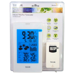 Taylor 1735 Digital Deluxe Weather Forecaster, White