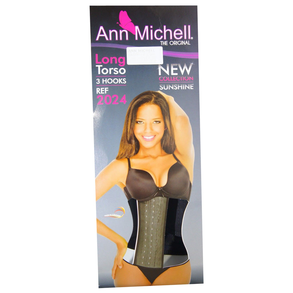 FAJA LATEX ANN MICHELL  FOR WOMEN COLOMBIANA 3 HOOK SPORT WAIST CINCHER ORIGINAL Clothing, Shoes & Accessories Intimates & Sleep