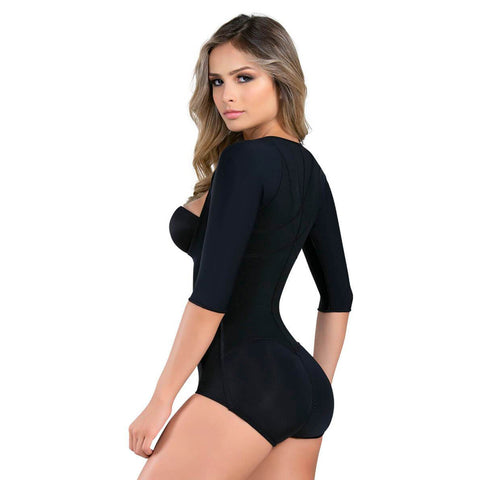 b155e44862 Fajate 286 Fajas Colombianas Post Surgery Arm Control Bodysuit Shaper