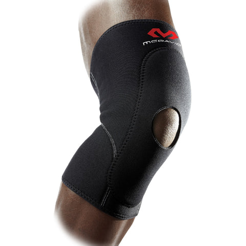 McDavid 404 Knee Sleeve with Anterior Patch & Open Patella, Level 1