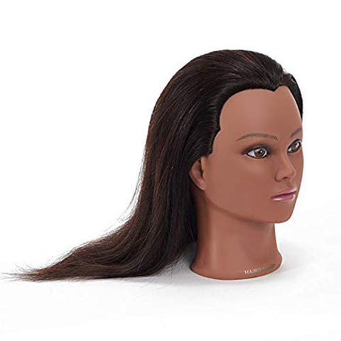 "Hairginkgo 18-20"" 100% Human Hair Training Practice Head 91806B0212"
