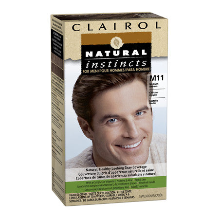 Clairol Natural Instincts For Men Haircolor M11 Medium Brown 3 Pack