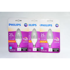 Philips 25W Equivalent Soft White B11 Dimmable Blunt Tip Candle (3 PACK) (L-1)