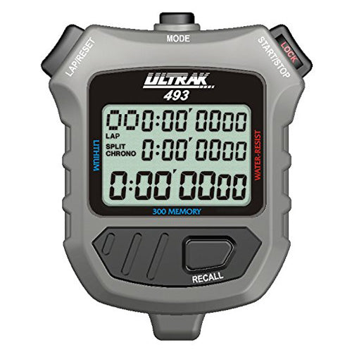Ultrak 493 Sports 300-Dual Split Memory Countdown Timer Pacer Stopwatch Counter