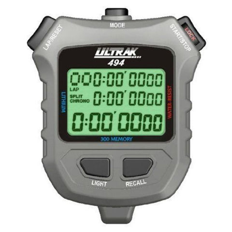 Ultrak 494 Sports 300-Dual Split Memory Countdown Timer Pacer Stopwatch