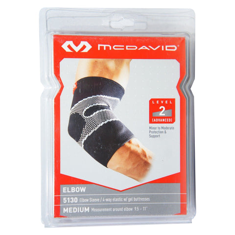 8967af897c McDavid 5130 Elbow Sleeve/4-Way Elastic with Gel Buttresses, Level 2