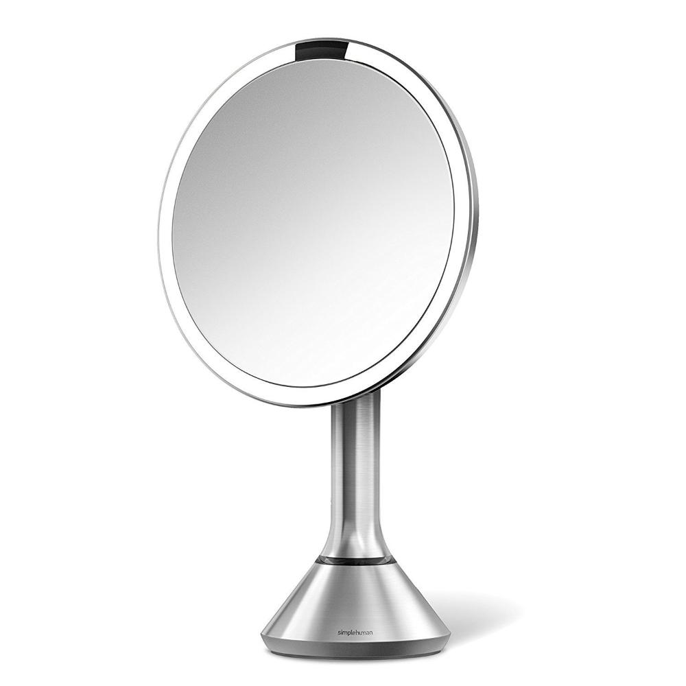 Simplehuman BT1080 8'' Round Cordless Sensor Mirror Rechargeable STAINLESS