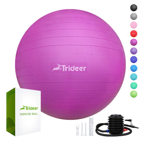 Trideer Exercise Ball (68-75cm) Extra Thick Yoga Ball Chair Pink (Like New)