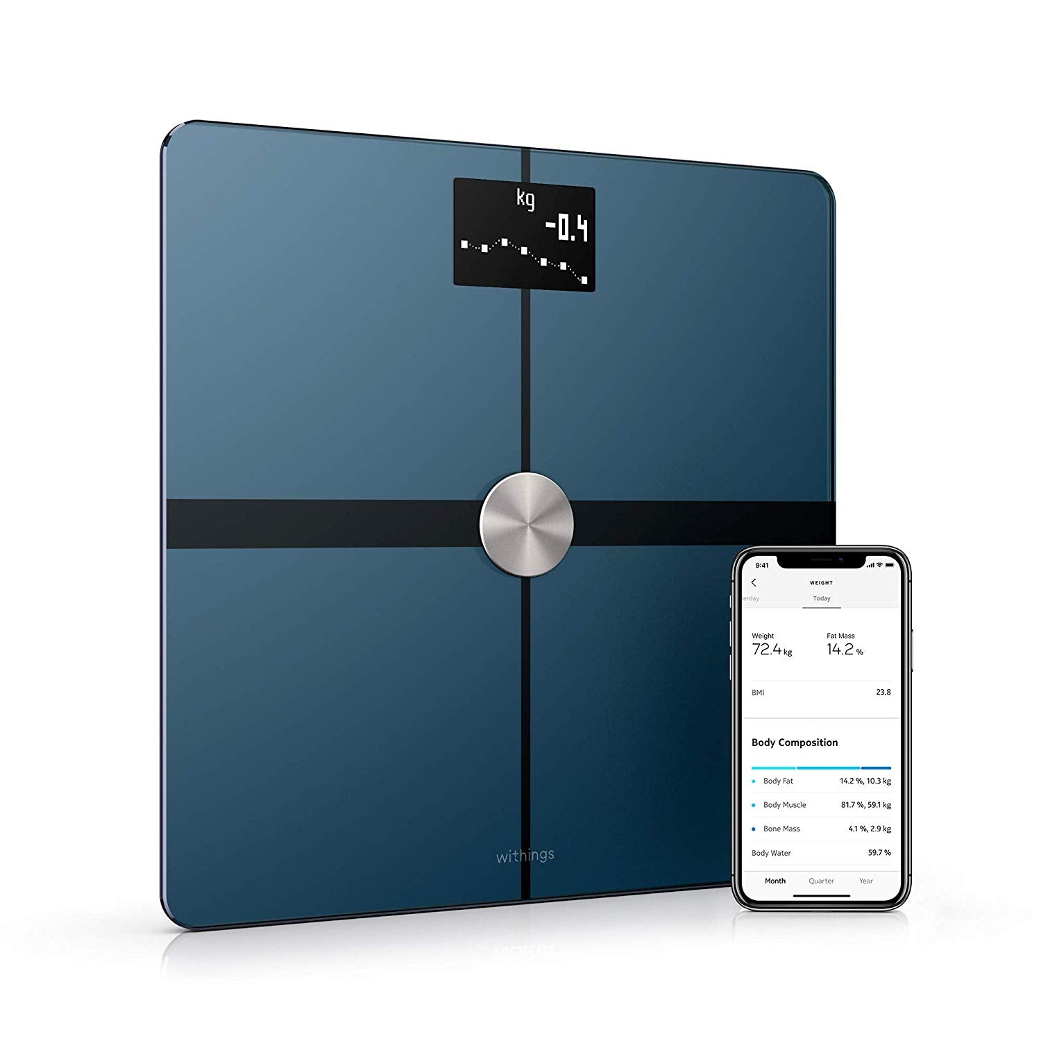 Withings Nokia Body+ Smart Body Composition Wi-Fi Digital Scale Black (Like New)