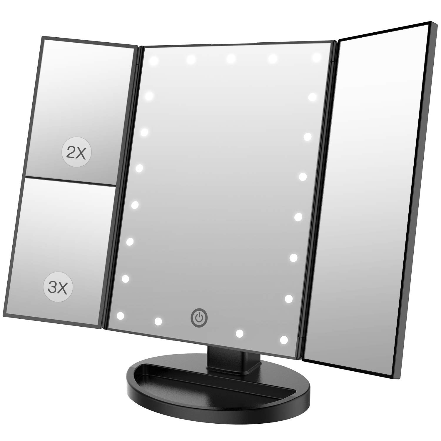 BESTOPE Makeup Vanity Mirror with 24LED Lights 3X/2X Magnifying Led Makeup