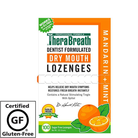 TheraBreath Mouth Wetting Lozenges Mandarin Mint 95 COUNT for dry mouth