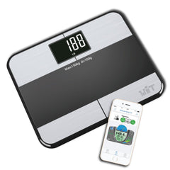 WiTscale S1 Stainless Steel Body Fat Bluetooth Digital Bathroom Scale with Large Backlit Display and Step-On Technology for iPhone7 and S7 (Like New)