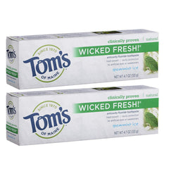 Tom's of Maine Natural Wicked Fresh Toothpaste Cool Peppermint, 4.7oz (Pack of 2)