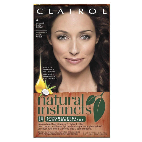 Clairol Natural Instincts Hair color Nutmeg Dark Brown 28