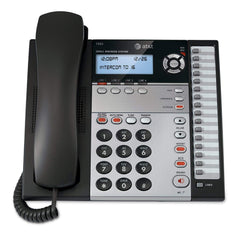 AT&T 1040 4-Line Expandable Corded Phone System with Speakerphone, 1 Handset, Black/Silver (Like New)