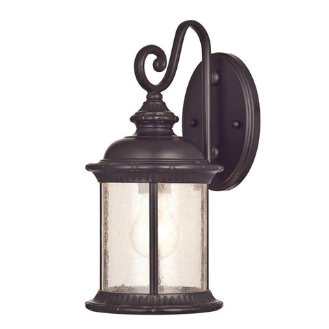 Westinghouse 6230600 New Haven One-Light Exterior Wall Lantern on Steel with Clear Seeded Glass, Oil Rubbed Bronze Finish (Like New)
