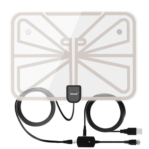 Antenna Indoor Amplified TV Antenna 50-100 Mile Range with Creative Adjustable Amplifier Booster (Like New)