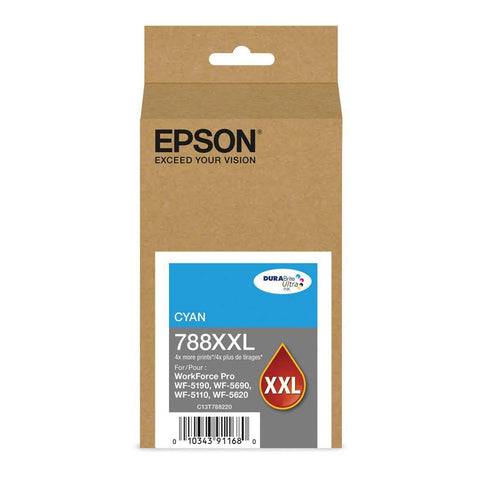 Epson GENUINE 788XXL DURABrite Ultra Extra High Capacity Cyan Ink Cartridge