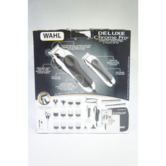 Wahl 79524-5201 Deluxe Chrome Pro, Complete Hair and Beard Clipping and Trimming Kit (Like New)