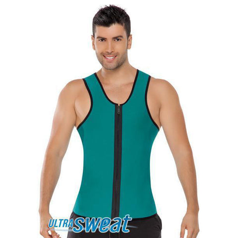 Fajate Men's Ultra Sweat Chaleco Reductor Fat Body Slimmer Thermal Vest