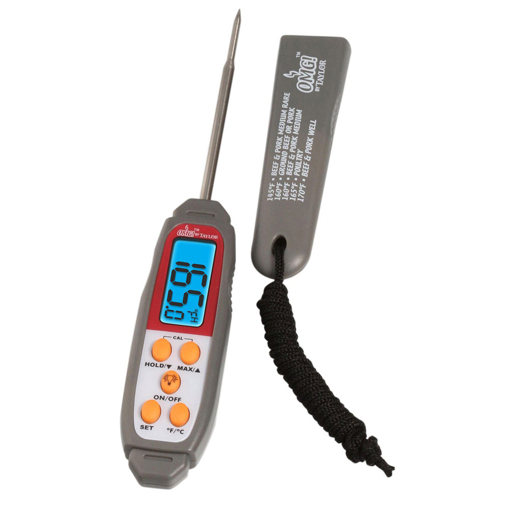 TAYLOR 806OMG Oh My Grill Antimicrobial Digital Pen-Style Thermometer