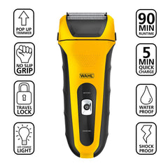 Wahl 7061-100 Rechargeable Foil Shaver Lithium Ion Wet/Dry waterproof (Like New)