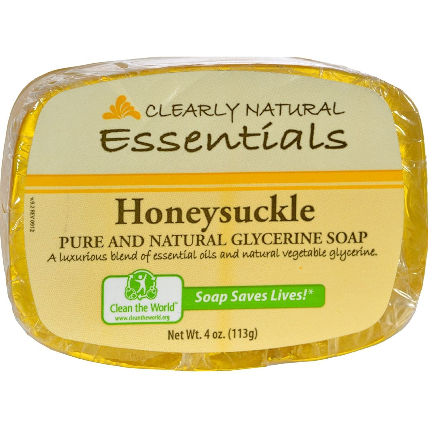 Clearly Natural-Honeysuckle Glycerine Bar Soap 12 PCK- 4 oz. EACH
