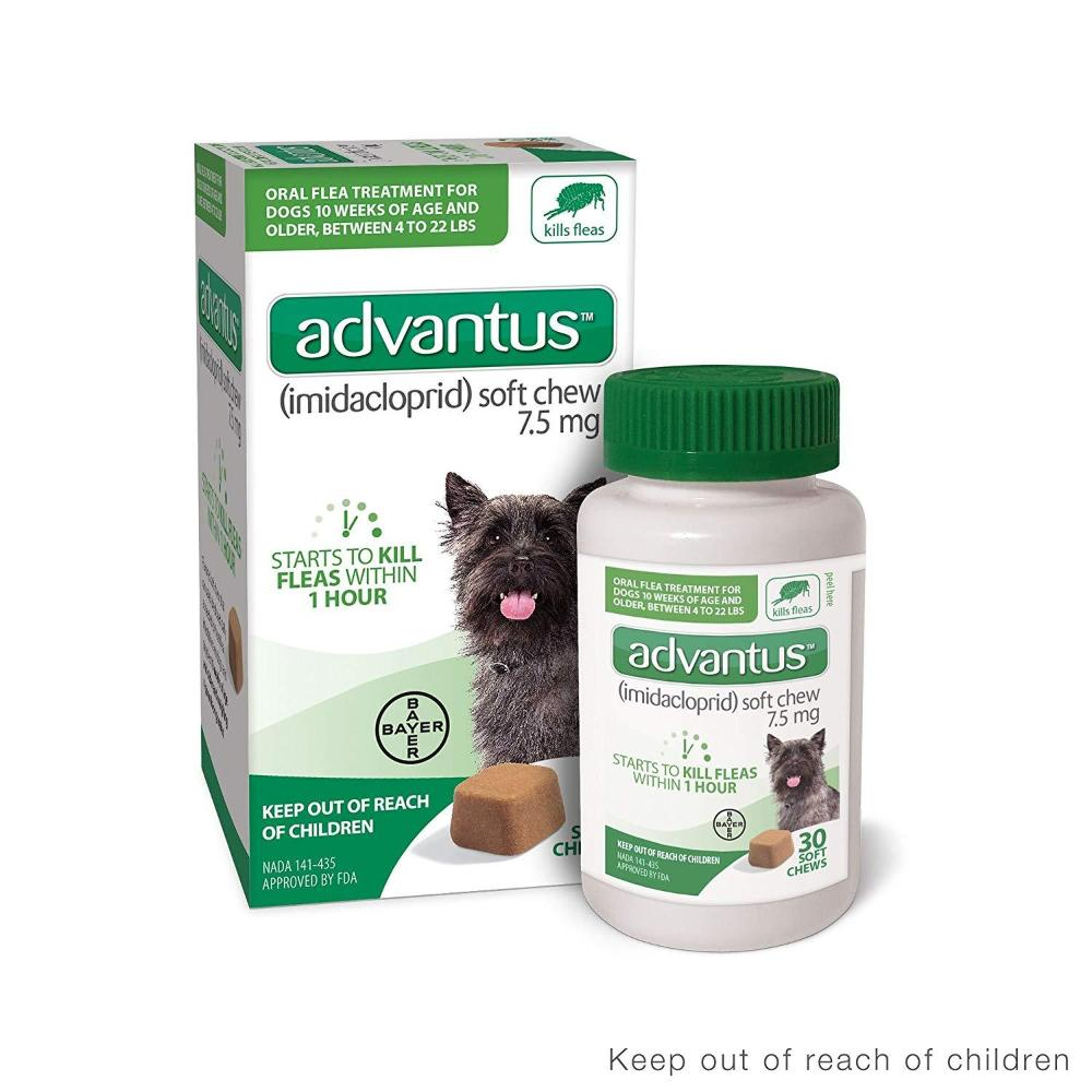 Advantus soft Chews for Dogs 4-22 lbs 7 soft chews 3/2020