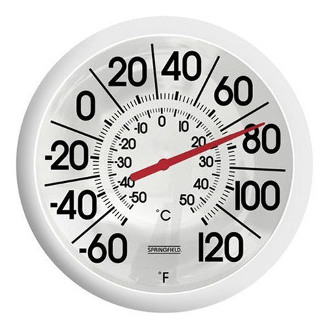 Springfield 90007 Big and Bold Outdoor Patio Thermometer, 13.25-Inch