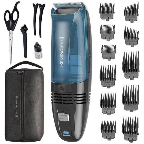 Remington HC6550 Cordless Vacuum Haircut Kit Trimmer Clippers 18 PCS (Like New)