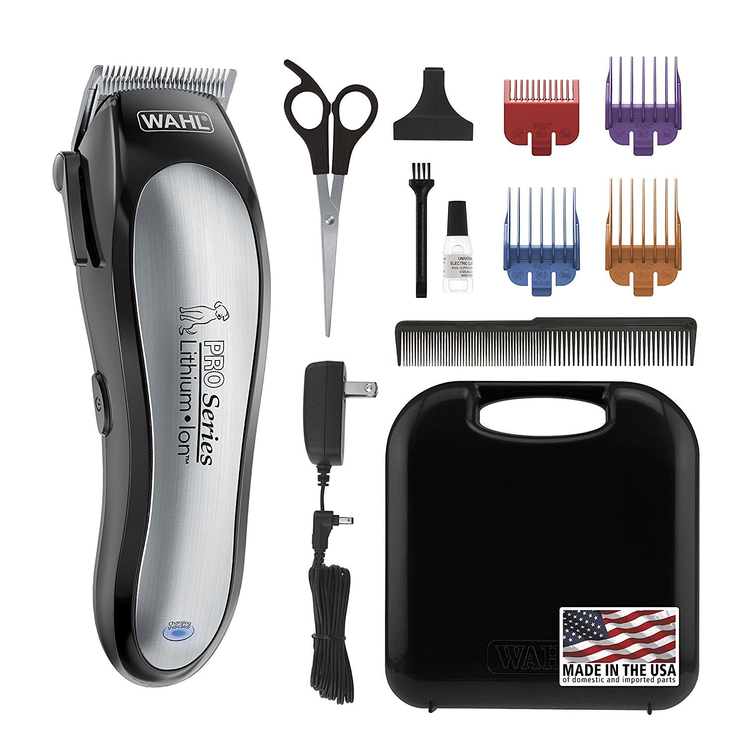 WAHL 9766 Lithium Ion Pro Series Cordless Dog Clippers, Rechargeable Low Noise (Like New)