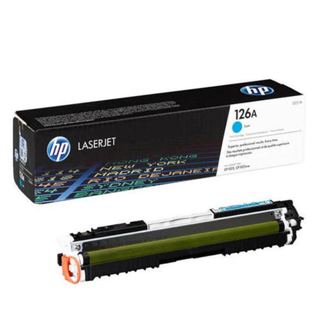 HP 126A Cyan Original LaserJet Toner Cartridge CE311A