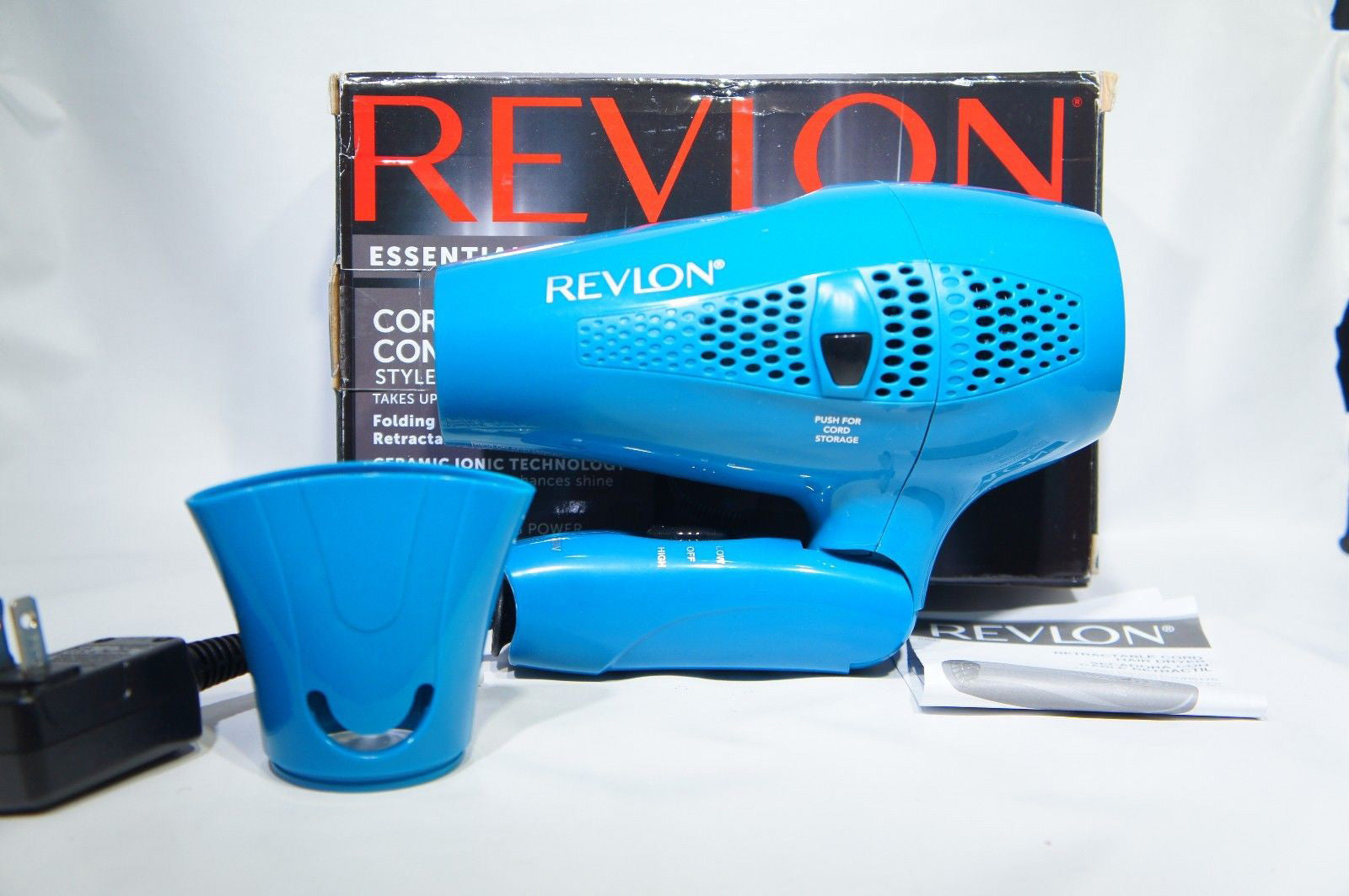 Revlon RVDR5175 1875W Fast Dry Travel Hair Dryer (Like New)