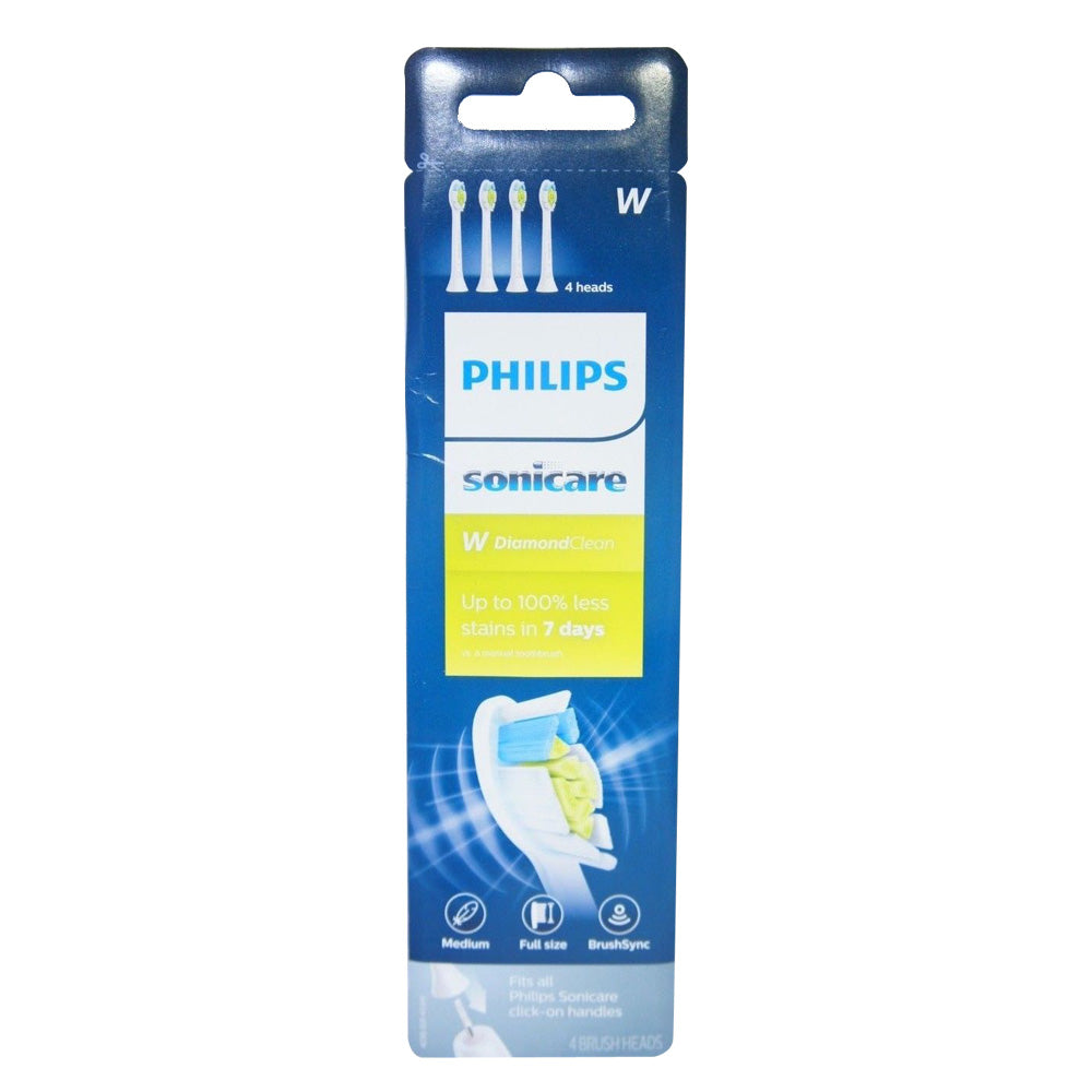 Philips Sonicare HX6064/65 DiamondClean replacement toothbrush 4 Heads White