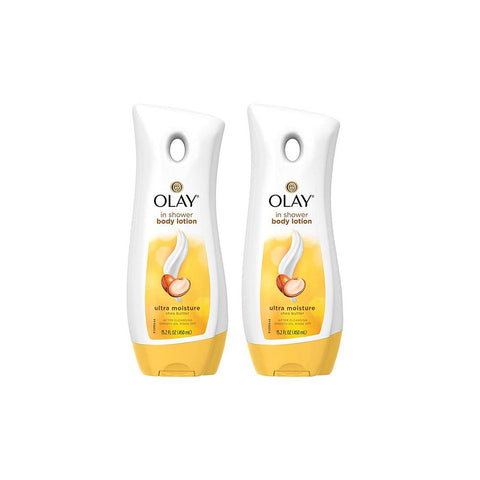 Olay In Shower Body Lotion Ultra Moisture SHEA BUTTER 15.2 oz.(PACK of 2)