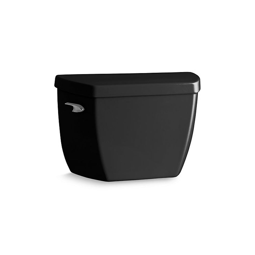 Kohler K-4645-T-7 Highline Classic Pressure Lite Toilet Tank with Tank Cover Locks, Black (Like New)