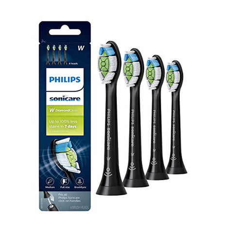 Philips Sonicare HX6064 DiamondClean replacement toothbrush 4 Heads BLACK