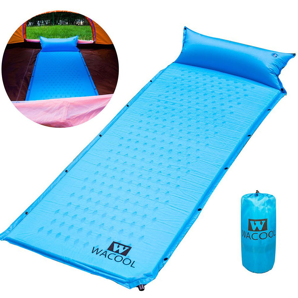 WACOOL Self Inflating Camping Sleeping Pad Mat with Pillow